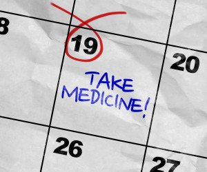 take medicine calendar reminder in home care